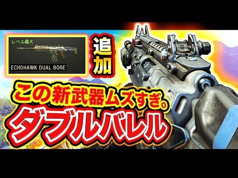 【CoD:BO4】ムズすぎる件。ダブルバレル新武器『ECHOHAWK DUAL BORE』の扱いが難しすぎる。